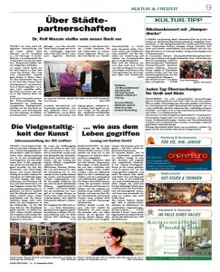 Über Städtepartnerschaften - BÄKE Courier vom 4. Dezember 2014
